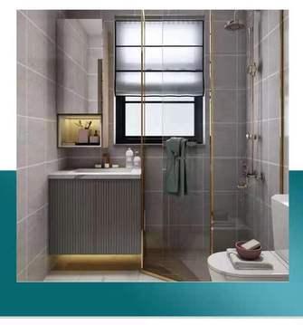 经济型80平米三室一厅混搭风格卫生间设计图