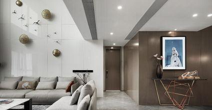 经济型90平米三室一厅现代简约风格玄关图片大全