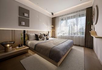 富裕型100平米三室一厅日式风格卧室欣赏图