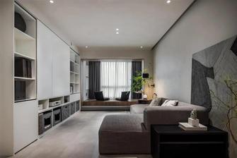 富裕型80平米现代简约风格客厅设计图
