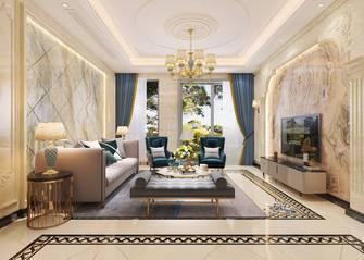 豪华型140平米四室三厅美式风格客厅设计图