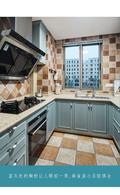 富裕型70平米美式风格厨房欣赏图