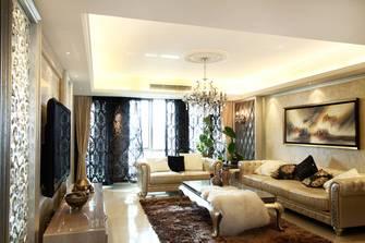 富裕型140平米三美式风格客厅图片