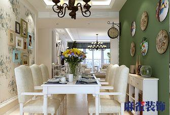 经济型140平米三室三厅田园风格餐厅装修案例
