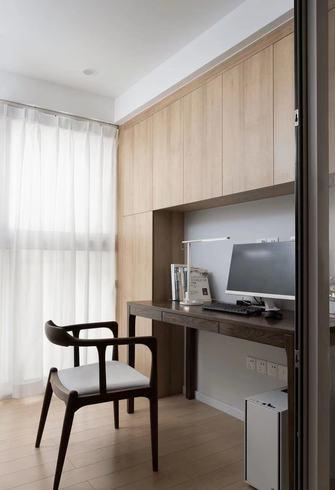 富裕型90平米三室两厅现代简约风格书房装修效果图