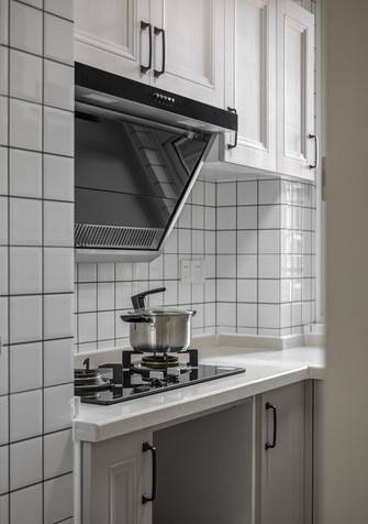 富裕型50平米美式风格厨房图片大全
