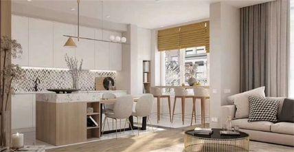 10-15万110平米三室两厅现代简约风格厨房效果图