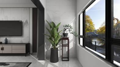 20万以上100平米三室两厅中式风格阳台图片