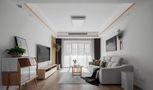 富裕型110平米三室两厅日式风格客厅图片