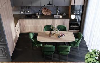 5-10万80平米三室两厅北欧风格餐厅装修案例