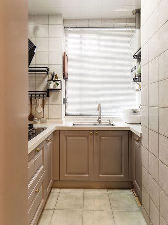 富裕型80平米田园风格厨房装修效果图