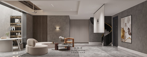 豪华型140平米复式现代简约风格影音室设计图