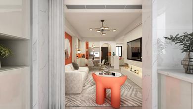 5-10万90平米三混搭风格客厅设计图