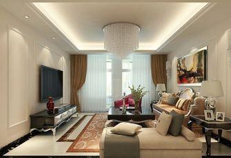 120平米三室一厅欧式风格客厅图片大全