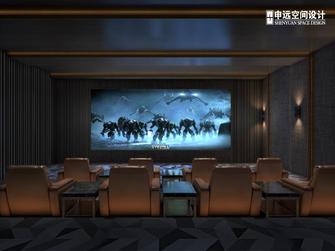 豪华型140平米别墅中式风格影音室图片