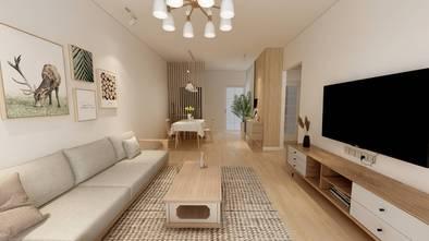 富裕型100平米三室两厅日式风格客厅效果图