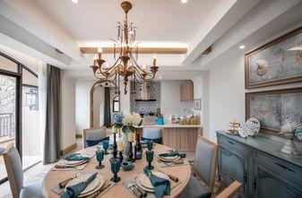 富裕型140平米别墅地中海风格餐厅图