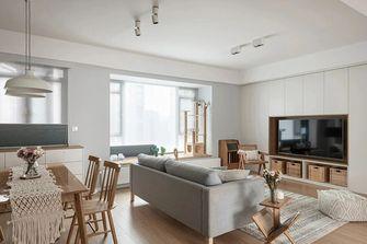 豪华型130平米三室一厅日式风格客厅设计图