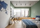 10-15万80平米三室两厅英伦风格卧室图