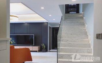豪华型110平米三室两厅轻奢风格楼梯间装修图片大全