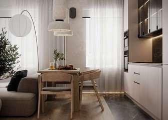 富裕型60平米公寓现代简约风格客厅图