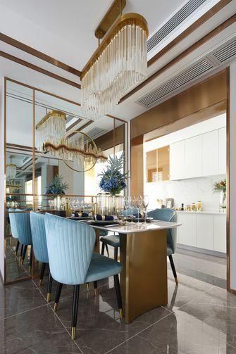 富裕型140平米三室两厅地中海风格餐厅图片大全