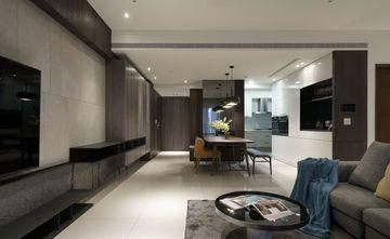 110平米三室一厅现代简约风格客厅设计图