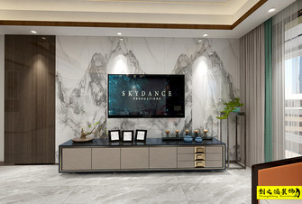 富裕型140平米四室两厅中式风格客厅图片