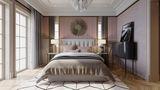 富裕型130平米三室两厅法式风格卧室装修图片大全