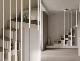 130平米三室一厅现代简约风格楼梯间装修图片大全