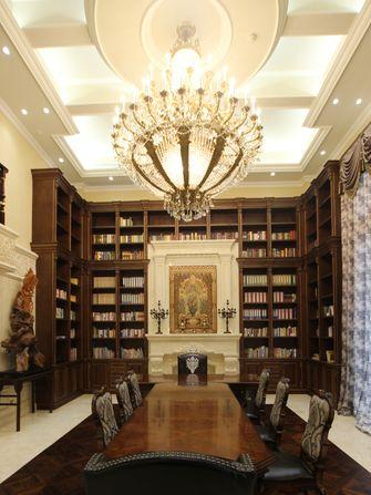 豪华型140平米别墅欧式风格书房装修效果图