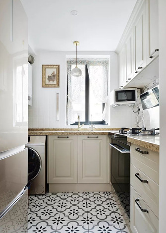3-5万30平米小户型法式风格厨房装修效果图