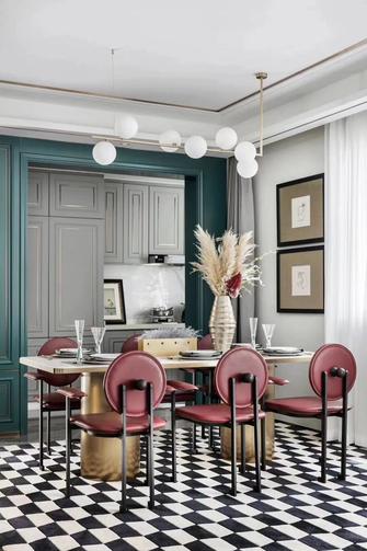 140平米四室三厅北欧风格餐厅图片