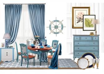 三室两厅地中海风格餐厅图
