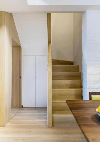 富裕型110平米复式北欧风格楼梯间装修图片大全
