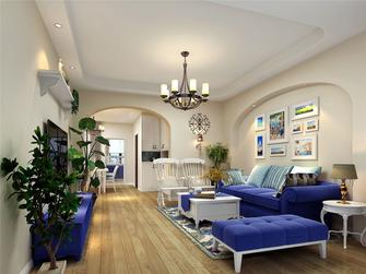 豪华型120平米三室两厅地中海风格客厅装修图片大全