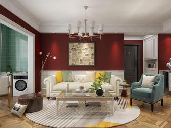 90平米三美式风格客厅装修案例
