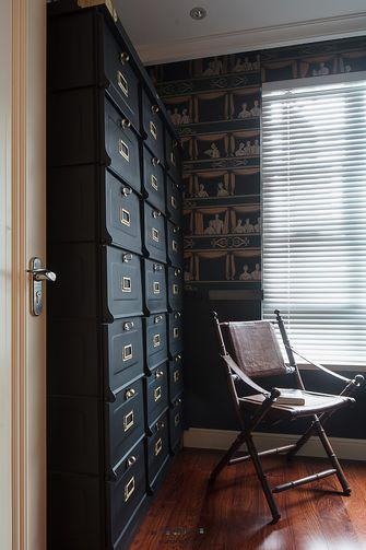 100平米三室一厅美式风格书房图片