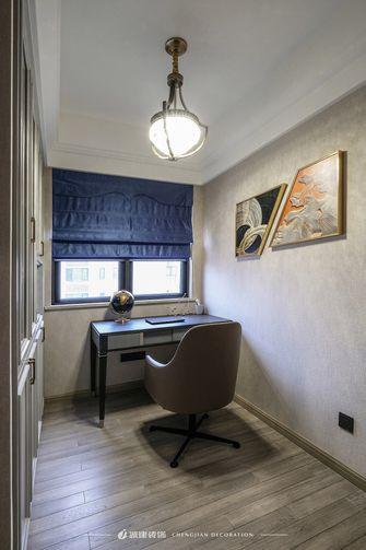 富裕型130平米三室一厅欧式风格书房图