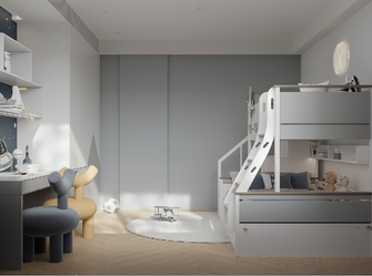 20万以上140平米现代简约风格青少年房装修效果图