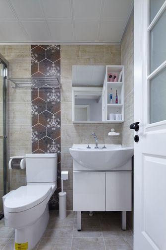 富裕型110平米三室两厅混搭风格卫生间欣赏图