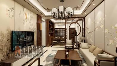 5-10万80平米三室两厅中式风格客厅装修图片大全