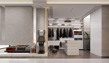 20万以上80平米三室两厅现代简约风格衣帽间装修图片大全