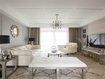 经济型90平米三室一厅美式风格客厅装修图片大全
