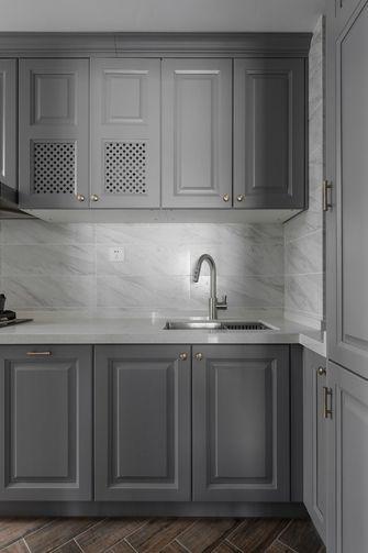 富裕型80平米三室一厅现代简约风格厨房欣赏图