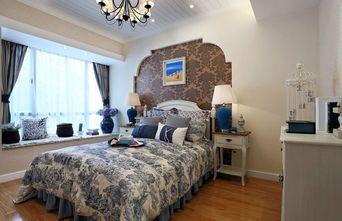 富裕型140平米三室两厅田园风格卧室欣赏图
