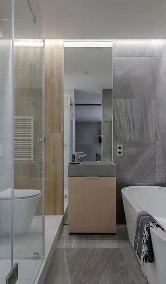 富裕型30平米超小户型现代简约风格卫生间效果图
