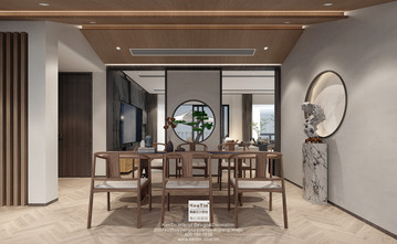 豪华型140平米复式混搭风格书房图