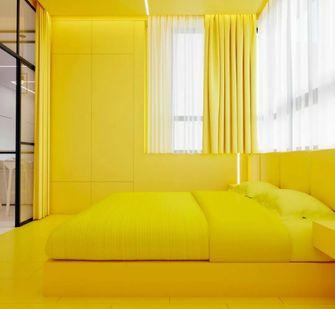 经济型70平米一室一厅混搭风格卧室装修效果图