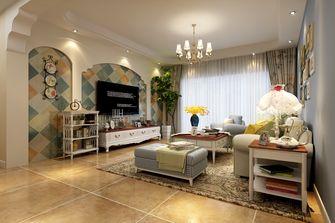 130平米三室两厅田园风格客厅图片大全